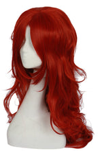 XCOSER Dragon Ball Fighter Z Game Cosplay Android #21 Long Curly Oranged-Red Wave Wig Accessory