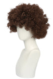 Xcoser Deadpool 2 Movie Cosplay Domino Short Brown Curly Hair Wig
