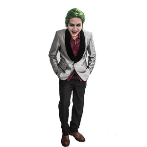 The Joker Costume 2016 Movie Suicide Squad The Joker Cosplay Outfit for Adult Custom Made