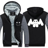 Xcoser DJ Marshmello Hoodie Coat Unisex Thicken Sweatshirt Sports Jacket Tops