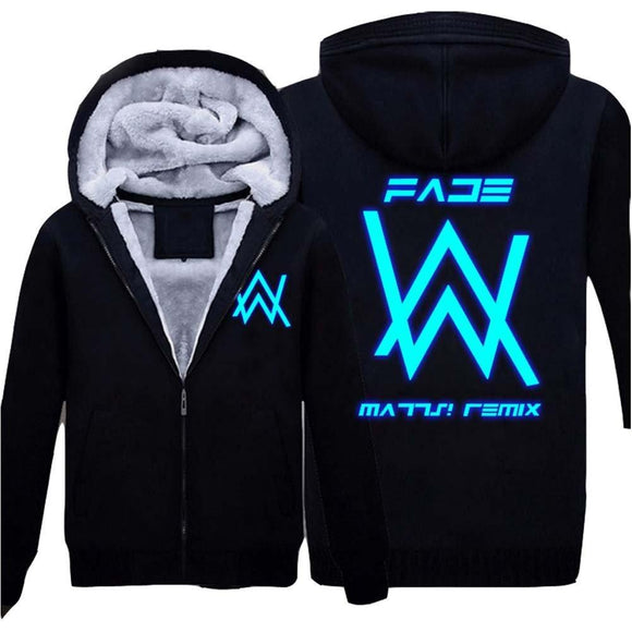Xcoser Faded Alan Walker Cosplay Luminous Pattern Painted Thicken Hoodie Costume