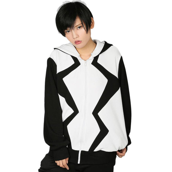 Xcoser Marvel Comics Fantomex Hoodie Costume Zipper Hooded Sweatshirt for Adults