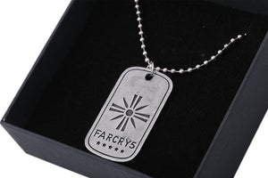 XCOSER Far Cry 5 Cosplay Joseph Seed Sliver Zinc Alloy Necklace Cosplay Accessory