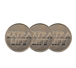 XCOSER The Hot & Newest Movie Ready Player One Cosplay Extra Life Coin In Three Types Cosplay Props