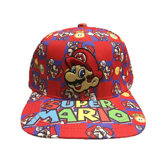 XCOSER Mario Derivative Canvas Mario Embroidered Hat