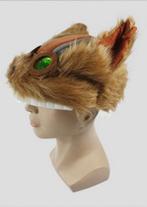 Halloween Cosplay League of Legends Game Cosplay The Hexplosives Expert Brown Plush Hat