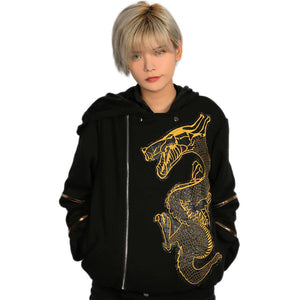 Xcoser Suicide Squad Killer Croc Hoodie Black Cotton Hoodie Killer Croc Cosplay Costume