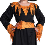 Halloween Cosplay Cute Pumpkin Patch Witches Costume for Girls