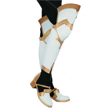 Halloween Cosplay XCOSER Fire Emblem Echoes: Shadows of Valentia Game Cosplay Celica Yellow & White Boots
