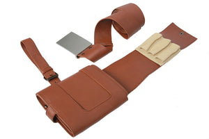 XCOSER Star Wars: The Force Awakens Cosplay Poe Dameron Brown PU Belt & Holster Poe Dameron Cosplay Costume Props