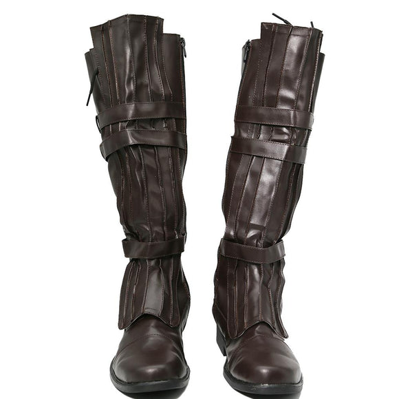 Star Wars Anakin Skywalker Boots Leather Brown Cosplay Shoes