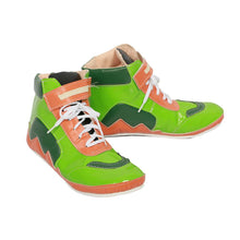 XCOSER Arms MinMin Shoes Green Girls Cosplay PU Leather Boots