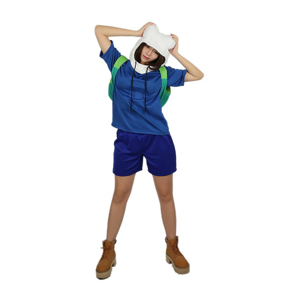 Xcoser Adventure Time Finn Lovely Suit Cosplay Costume