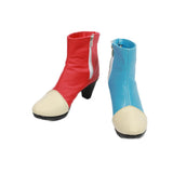 Xcoser Dragon Ball Fighter Z Cosplay Android #21 Blue & Red PU Leather Boots