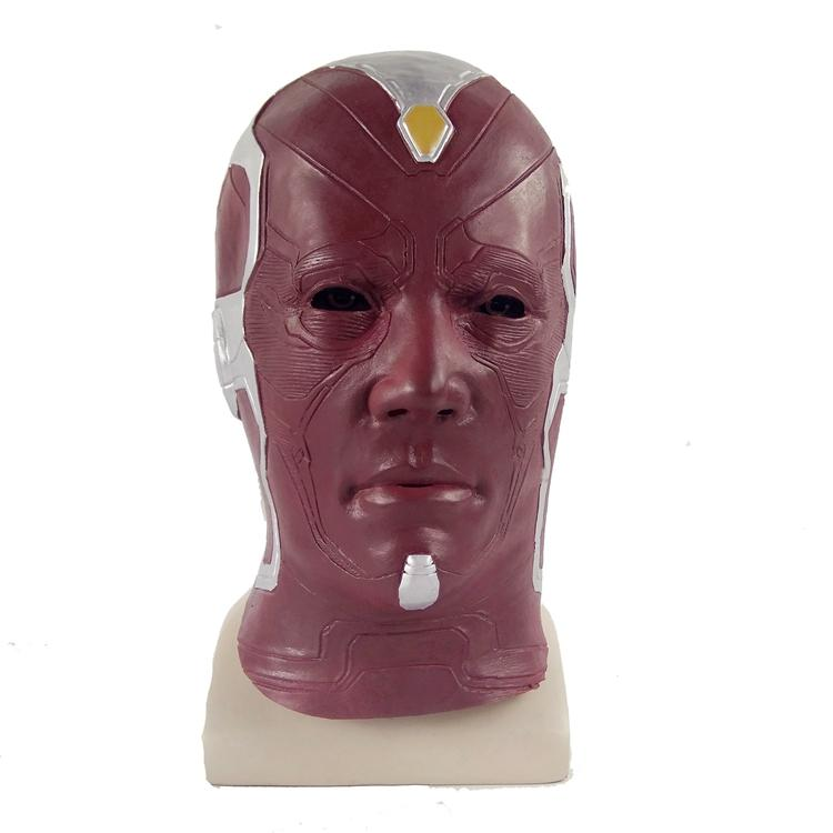 Xcoser Avengers Vision Latex Mask for Halloween