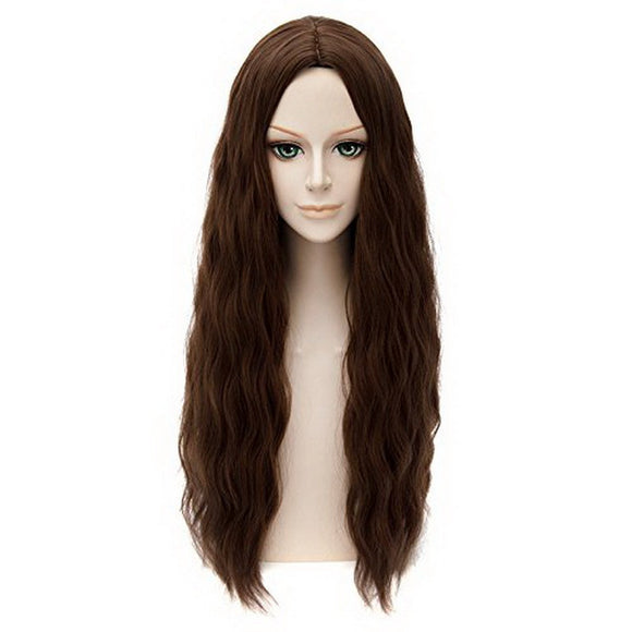 Scarlet Witch Wig The Avengers 2 Age of Ultron Cosplay Long Wavy Dark Brown Wig