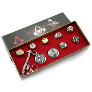 Assassin's Creed Ring Pendant Necklace & Badges Collection Sets Series - Xcoser Costume