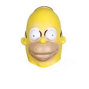 The Simpsons Homer Simpson Mask Yellow Latex Halloween Cosplay Mask