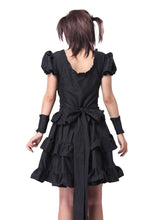 Black Gothic Lolita Victorian Punk Vintage Lace Cosplay Costume Corset Dress