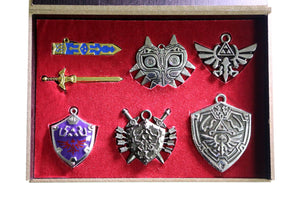 Zelda Necklace The Legend of Zelda Cosplay Keychain Set Pendant Necklace For Decoration