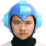 Classic Mega Man Blue Helmet Halloween Cosplay Props with Xcoser Logo