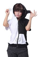 Danganronpa Cosplay President Monokuma Jacket Black White Bear Costume Hoodie Shirt - Xcoser Costume