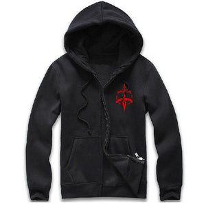 Xcoser Costumes Fate Zero Costume Saber Cosplay Seal of Command Hoodie