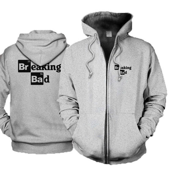 Unique Design Autumn and Winter Cardigan Sweater Fleece Hoodie for Breaking Bad Cosplay