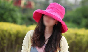 Fashion Ladies Sun Hats Cotton Big Brim Ultraviolet Protection Sun Hat - Xcoser Costume