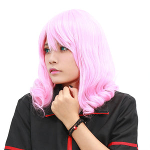Aries Wig Fairy Tail Anime Short Pink Curly Party Cosplay Costume Wig - Xcoser Costume