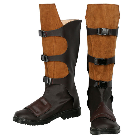 Xcoser Star-Lord Boots Dark Brown & Light Brown Authentic Leather Boots