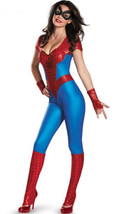 Sexy Spider-Woman Costume Used in Cosplay Halloween Party or Evening Show