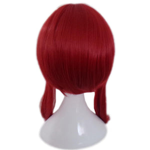 Erza Scarlet Wig Fairy Tail Erza Cosplay Anime Long Straight Red Wig With Bunches - Xcoser Costume