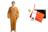 Chewbacca Costume Deluxe Star Wars Cosplay Adult Chewbacca Bodysuit with Bag