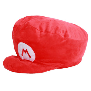 Xcoser Cosplay Mario Hat Super Mario Bros Mario Luigi Cosplay Plush Halloween Hat Cap Red Green