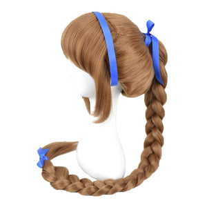 Disney Fairies Tinkerbell Fawn Wig Brown Long Braid Anime Wig - Xcoser Costume