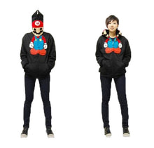 Winter and Autumn Zip Coat Super Mario Cosplay Costume Sweater Hoodie for Girls