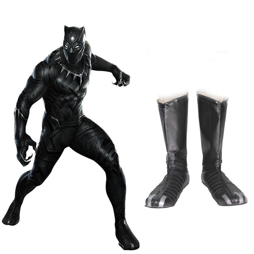 Xcoser Black Panther Boots Captain America 3 Cosplay