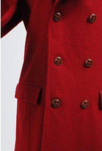 Doctor Who Long Red Corduroy Wind Coat Costume - Xcoser Costume