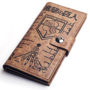 Attack on Titan Eren Mikasa Levi Scouting Legion Badge  Wallet Purse Cosplay Prop - Xcoser Costume