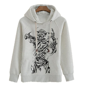 Ajin Hoodie Ajin Demi-Human Anime Cotton Fleece Pullover Hooded Sweatshirt - Xcoser Costume
