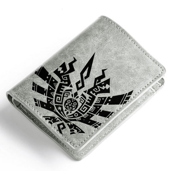 Monster Hunter Wallet Unisex Anime PU Short Wallet Purse Khaki (Daily Deal)