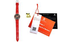 Constellation Series Watch Touch Screen Waterproof Wrist Watch With Black/Red Leather Wristband