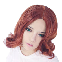 Black Widow Wig Avengers Black Widow Cosplay Wig Short Wavy Wig
