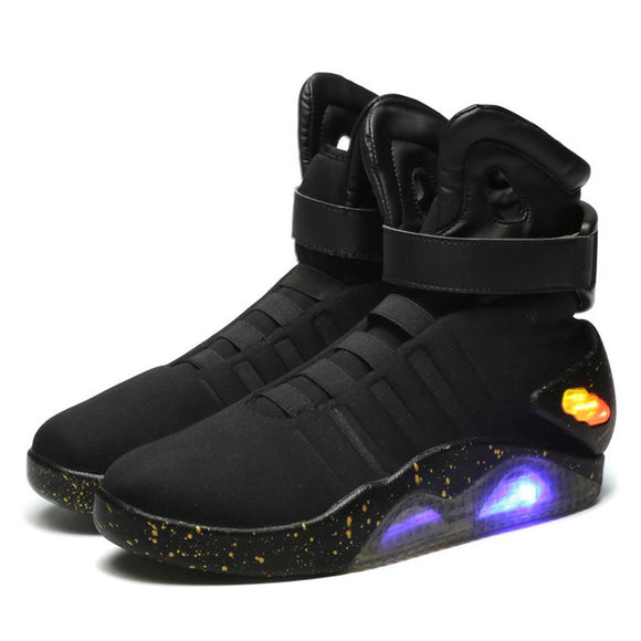 Back to the Future Marty McFly Shoes Light Up Mens Sneakers Sport Shoes - Xcoser Costume