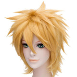 Naruto Uzumaki Wig Naruto Cosplay Short Anime Costume Wig Golden Yellow Heat Resistant Hairpiece