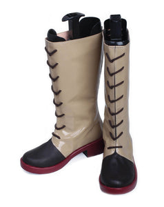 Ayame Gray PU High Boots Ayame Cosplay Shoes for Woman - Xcoser Costume