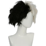 101 Dalmatians Cruella De Vil Wig Black and White Hair Anime Cosplay Wig