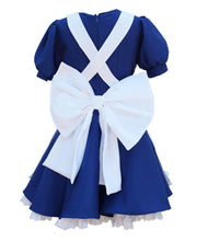 Alice Dress Alice Madness Returns Cosplay Alice Outfit Dark Blue Color - Xcoser Costume