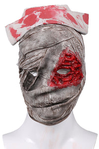 Xcoser Silent Hill Nurse Mask Light Gray Latex Mask Halloween Cosplay Props